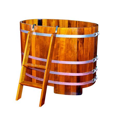wood soaking tub