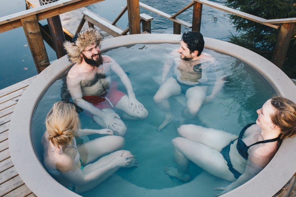 saltwater hot tub